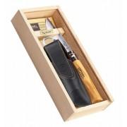 Нож (кожаный чехол, в пенале) Opinel 8 VRI (001539)