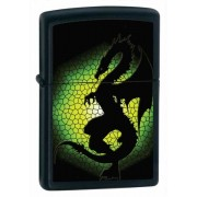 Зажигалка Zippo Triptych Dragon Black Matte 28135