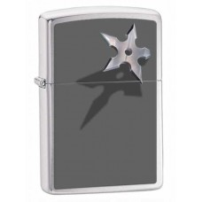 Зажигалка Zippo Cornered Star Brushed Chrome 28030