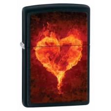 Зажигалка Zippo Hearts Black Matte 28313