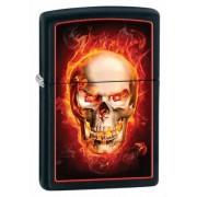 Зажигалка Zippo Burning Skull Black Matte (28307)