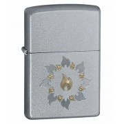 Зажигалка Zippo Ring of Fire Satin Chrome 21192