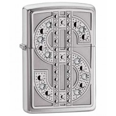 Зажигалка Zippo Bling Emblem Polished Chrome 20904