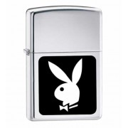 Зажигалка Zippo Playboy in Black and White High Polish Chrome 250PB107