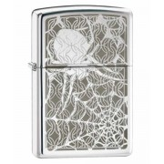 Зажигалка Zippo Hidden Spider High Polish Chrome 28052