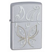 Зажигалка Zippo Golden Butterfly Satin Chrome 24339