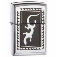 Зажигалка Zippo Gecko Emblem High Polish Chrome 652