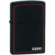 Зажигалка Zippo Black Matte With Logo & Border (218ZB)