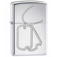 Зажигалка Zippo Dog Tag High Polish Chrome 24836