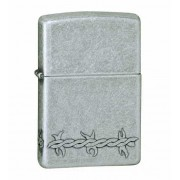 Зажигалка Zippo Barbed Wire Antique Silver Plate (999)